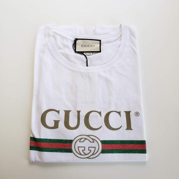 698958cf669 Gucci Men s Vintage Logo Cotton TShirt - White